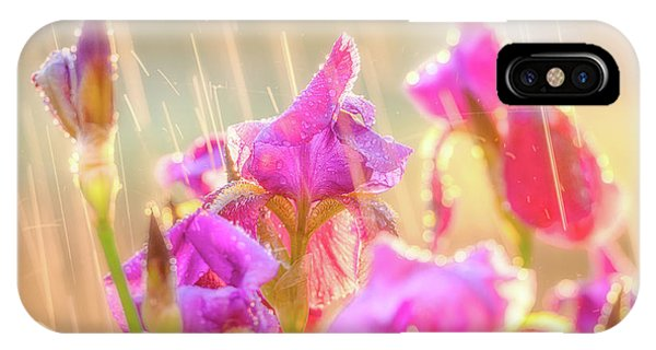 IPhone Case featuring the photograph Refreshing Spring Rain by Leland D Howard
