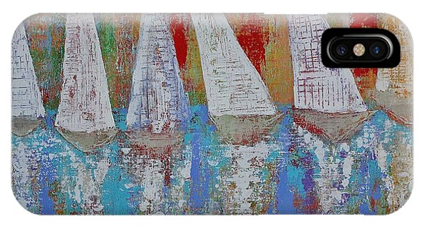 Regatta Original Painting IPhone Case