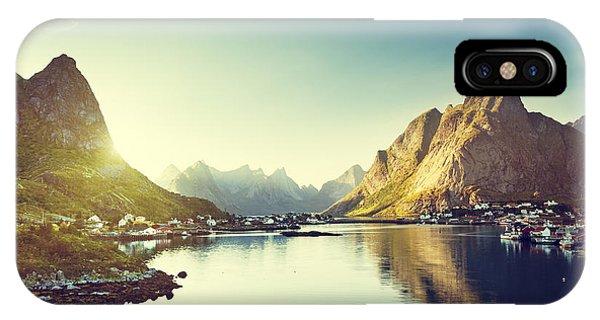 Spring Mountains iPhone Case - Reine Village, Lofoten Islands, Norway by Iakov Kalinin