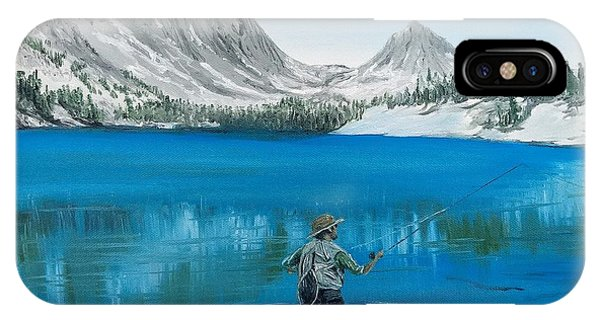 IPhone Case featuring the painting Relaxing At Skelton by Kevin Daly