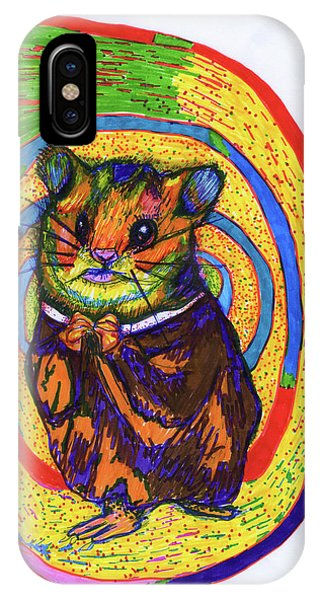 Hamster iPhone Case - Religious Hamster by Kennedy Paizs