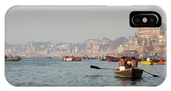 IPhone Case featuring the photograph Religious River Of Ganges In India by Michalakis Ppalis