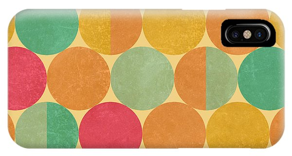 Cover iPhone Case - Retro Geometric Seamless Pattern With by Victoria Kalinina