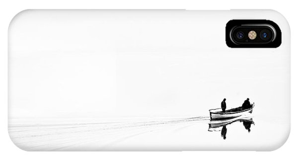 Fisherman iPhone Case - Retro Image Of Fishermen In High Key by Ludmila Yilmaz