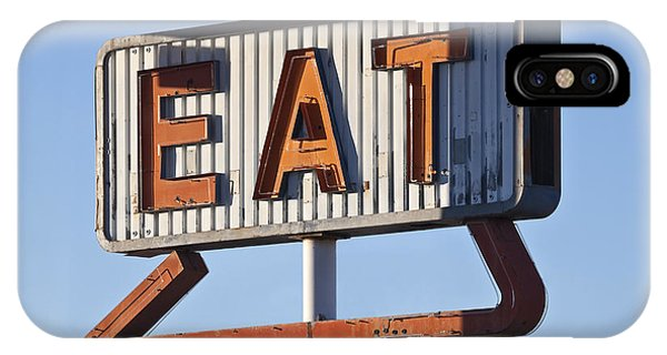 Neon iPhone Case - Retro Neon Eat Sign Ruin In Early by Trekandshoot