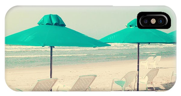 Retro Pastel Beach Phone Case by Andrekart Photography