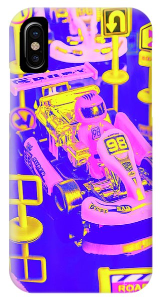 Cart iPhone Case - Retro Race Day by Jorgo Photography - Wall Art Gallery