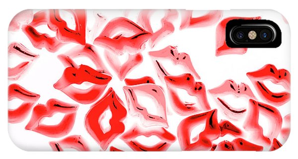 Kiss iPhone Case - Retro Red Lips by Jorgo Photography - Wall Art Gallery