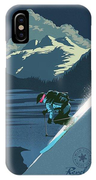 Retro Revelstoke Ski Poster IPhone Case