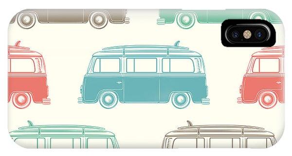 Surfboard iPhone Case - Retro, Vintage, Travel, Camper Van by Aleksandrs Bondars