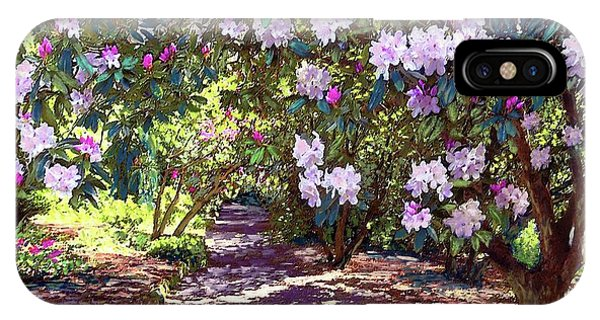 Oklahoma iPhone Case - Rhododendron Garden by Jane Small