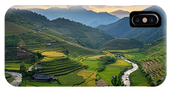 Horticulture iPhone Case - Rice Field On Terraces Panoramic by Cw Pix
