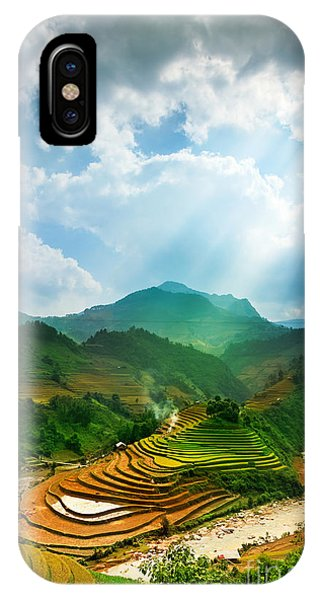 Horticulture iPhone Case - Rice Fields On Terraced Of Mu Cang by John Bill