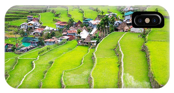 Horticulture iPhone Case - Rice Terraces In The Philippines. The by Frolova elena