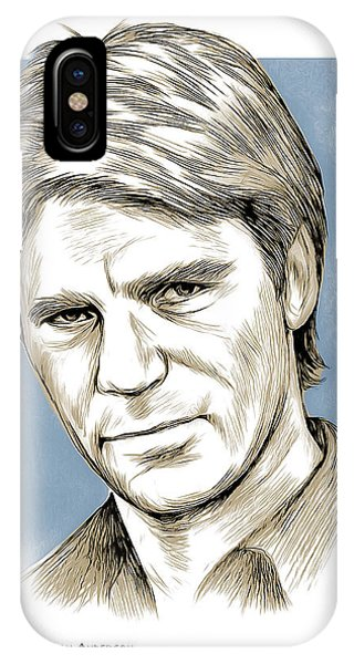 Mixed-media iPhone Case - Richard Dean Anderson Color by Greg Joens