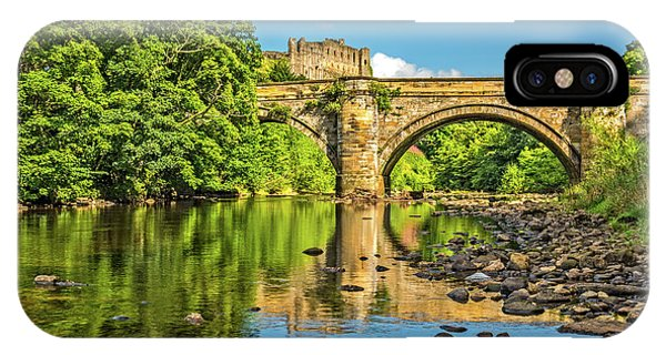 Richmond Castle And The River Swale Phone Case by David Ross