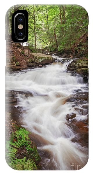 IPhone Case featuring the photograph Rickett's Glen Waterfall II by Sharon Seaward