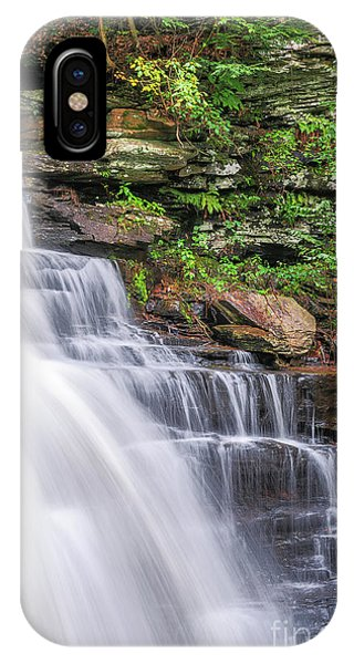 IPhone Case featuring the photograph Rickett's Glen Waterfall by Sharon Seaward