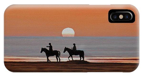 Riding Sunset Beach IPhone Case