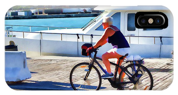 Riding Through The Dock IPhone Case