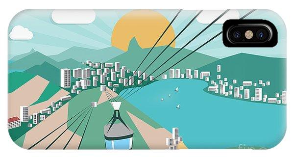 South America iPhone Case - Rio De Janeiro - Vector Illustration by Petrovic Igor