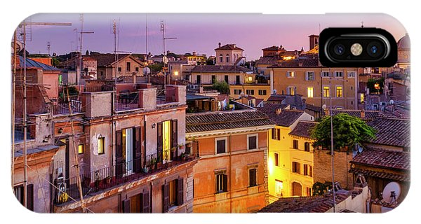 IPhone Case featuring the photograph Rione Pigna's Rooftops by Fabrizio Troiani