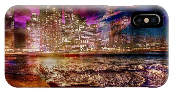 Rising Tide On The Hudson Montage IPhone Case
