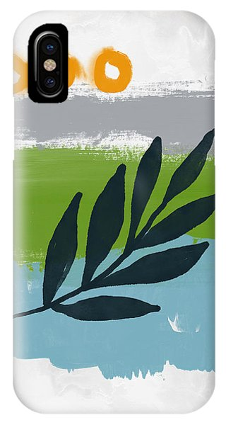 Leaf iPhone Case - Rising With The Sun 3- Art By Linda Woods by Linda Woods