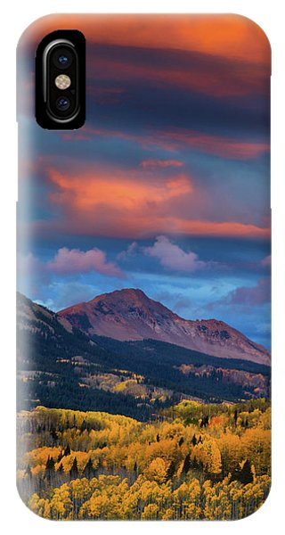 IPhone Case featuring the photograph Rising Color  by John De Bord