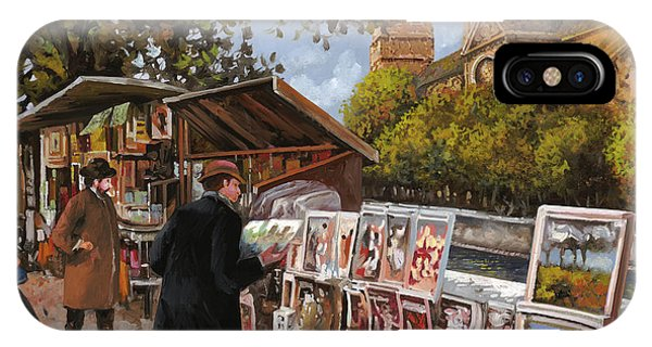 France iPhone Case - Rive Gouche by Guido Borelli