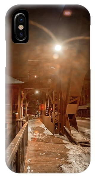 Full Moon iPhone Case - River Bridge by Bruno Passigatti
