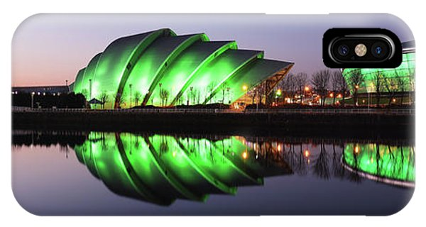 IPhone Case featuring the photograph River Clyde Waterfron Twilight Reflections by Grant Glendinning