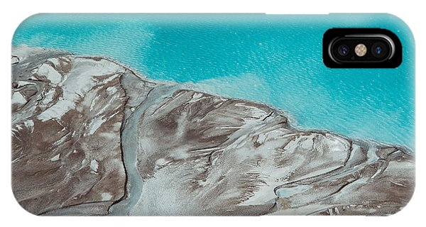 Delta iPhone Case - River Delta Flowing Into The Blue Pond by Muh23
