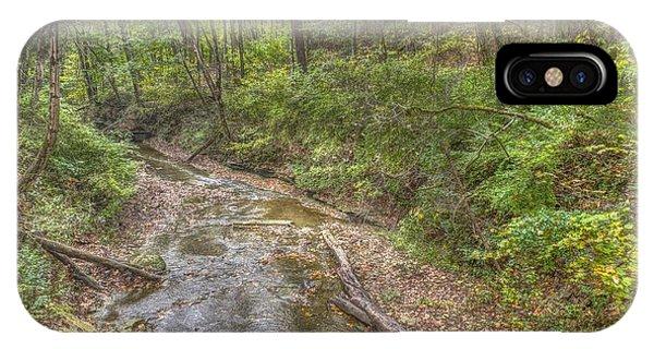 River Flowing Through Pine Quarry Park IPhone Case