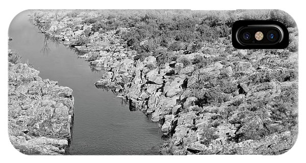 River On The Rocks. Bw Version IPhone Case