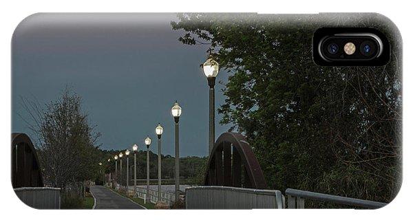 River Walk Moon Rise IPhone Case