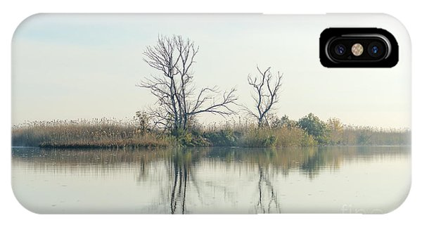Delta iPhone Case - River With Tree Reflected In The Delta by Vadim Petrakov
