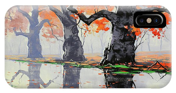 Amber iPhone Case - Riverside Trees by Graham Gercken