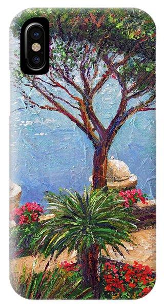 Umbrella Pine iPhone Case - Riviera Umbrella Tree by David Lloyd Glover