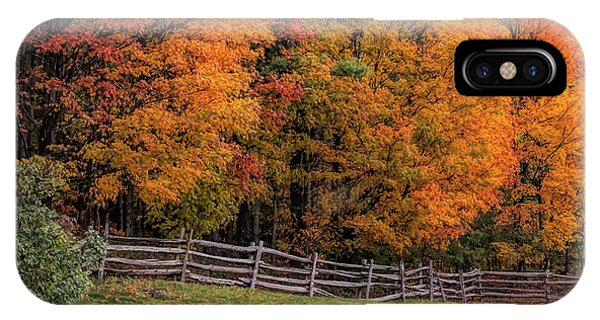 Roadside View Of Vermont Fall Colors IPhone Case
