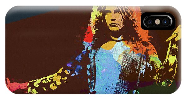 Rock And Roll Jimmy Page iPhone Case - Robert Plant Tribute by Dan Sproul