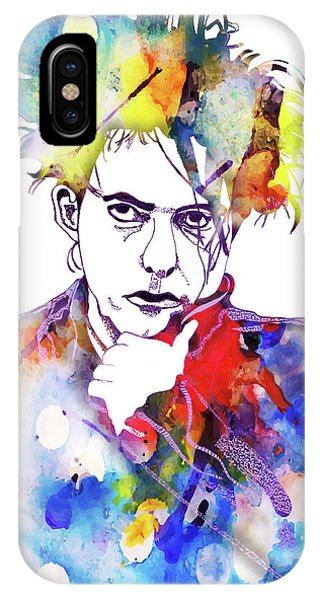 Robert Smith Music iPhone Case - Robert Smith 3 by Christine Perry