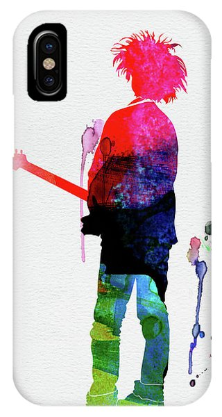 Robert Smith Music iPhone Case - Robert Smith Watercolor by Naxart Studio