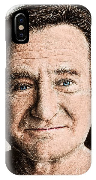 Robin Williams Comedian iPhone Case - Robin Williams Colour Ver 2 by Andrew Read