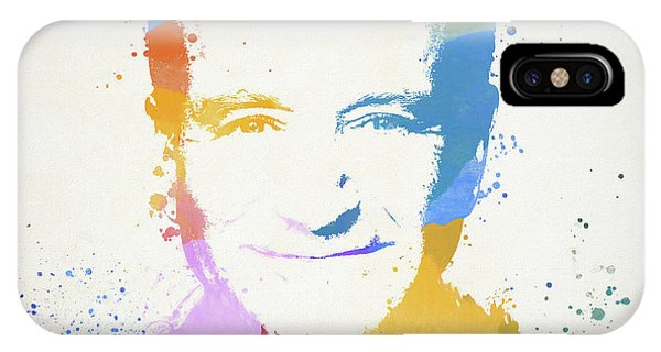 Robin Williams Comedian iPhone Case - Robin Williams Paint Splatter by Dan Sproul