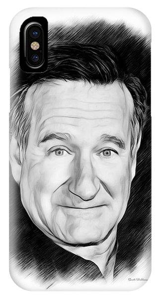 Robin Williams Comedian iPhone Case - Robin Williams Sketch  by Scott Wallace Digital Designs