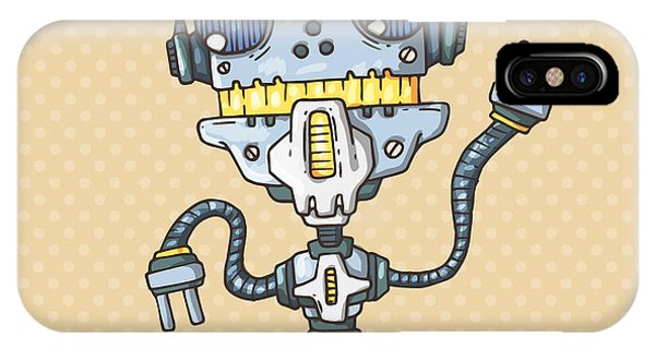 Andrew iPhone Case - Robot-drill by Andrew Derr