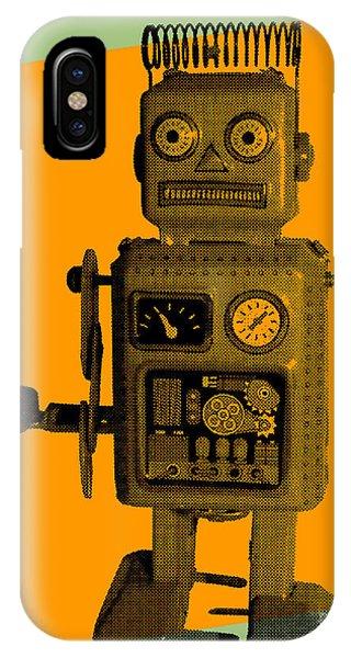Danger iPhone Case - Robot by Freelanceartist