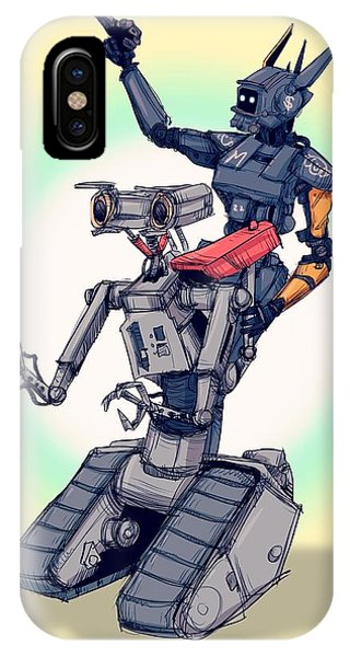 Nostalgia iPhone Case - Robot Pals by Ludwig Van Bacon