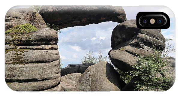 iPhone Case - Rock Gate In The Nature Reserve Broumov Walls by Michal Boubin